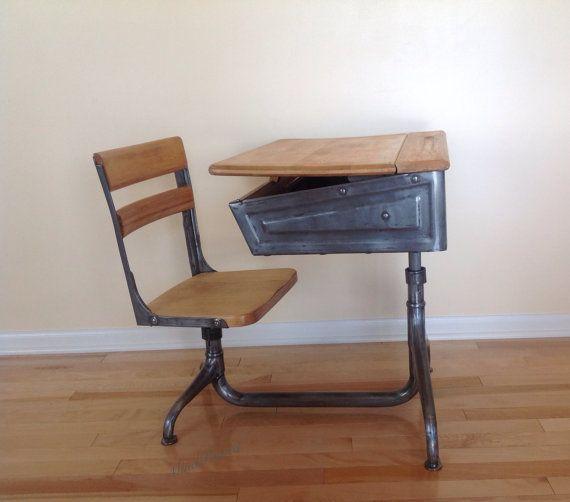Vintage 1940s School Desk