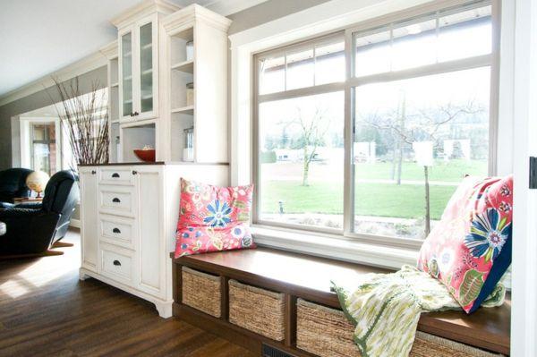 Kleine Küchen Ideen und Lösungen für niedrige Fensterbänke Küche - Küchenrückwand Glas Beleuchtet
