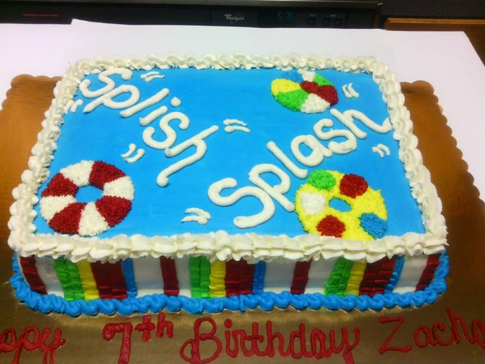 My Splish Splash Cake With Images Pool Party Cakes Birthday