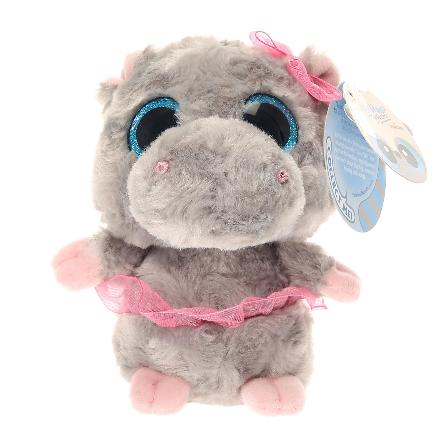 P Tutu the hippo is a must have super cute addition to any TY Beanie Boo  collection. She has a soft grey plush feel with a pink tutu and bow  attached. 24adea0c6520
