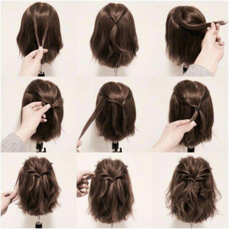 5 Tutos Coiffures Super Faciles A Faire Pour Les Cheveux Courts Les Eclaireuses Coiffure Facile Cheveux Court Coiffure Cheveux Courts