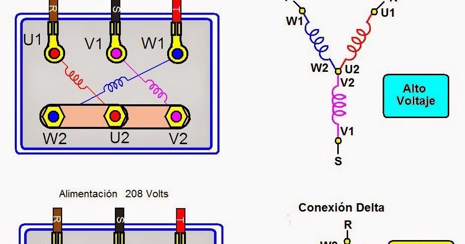 Los Motores De 6 Terminales Son Diseñados Para Trabajar En 2 Tensiones Conexión Triángulo D Conectores Electricos Motores Diagrama De Circuito Eléctrico