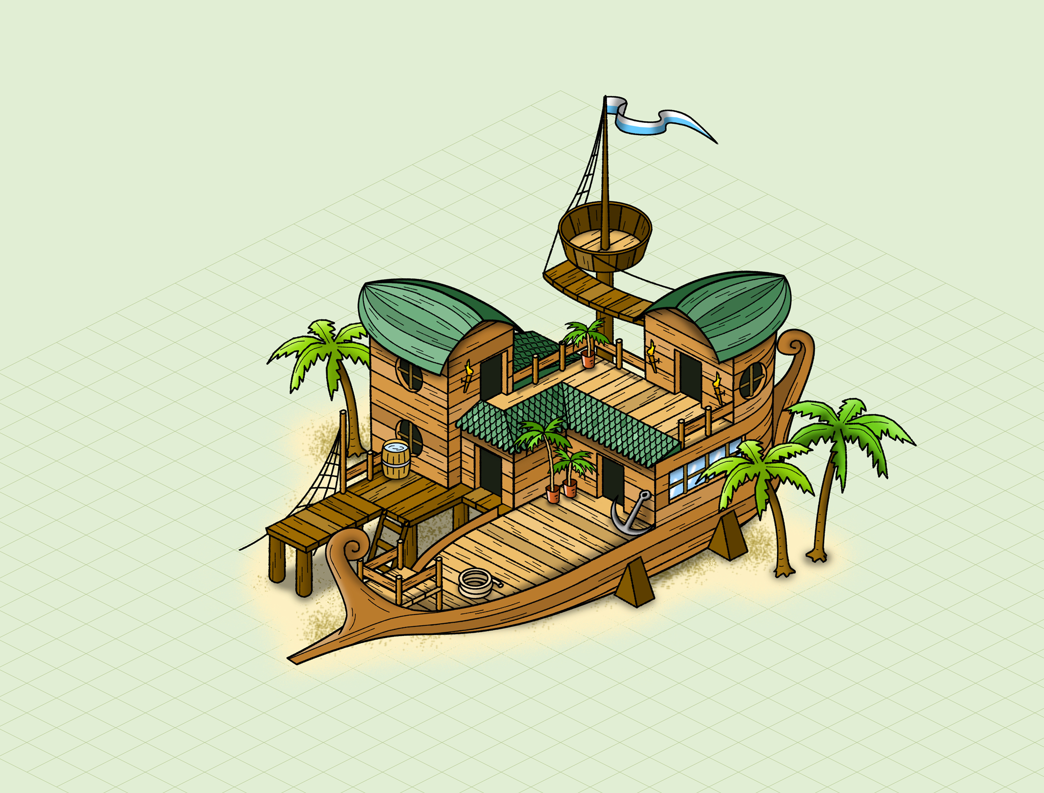 #ship from the game #travians at www.travians.com