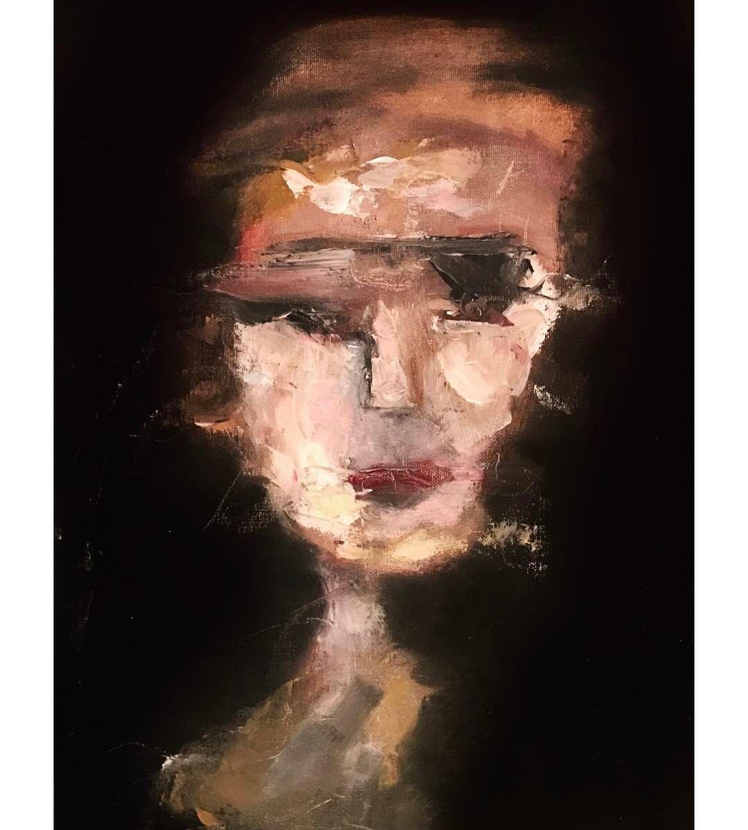 Oil painting male portrait Despair artist self-portrait only hand painted canvas