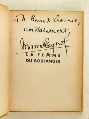 La Femme du Boulanger. Film de Marcel: PAGNOL, Marcel ;
