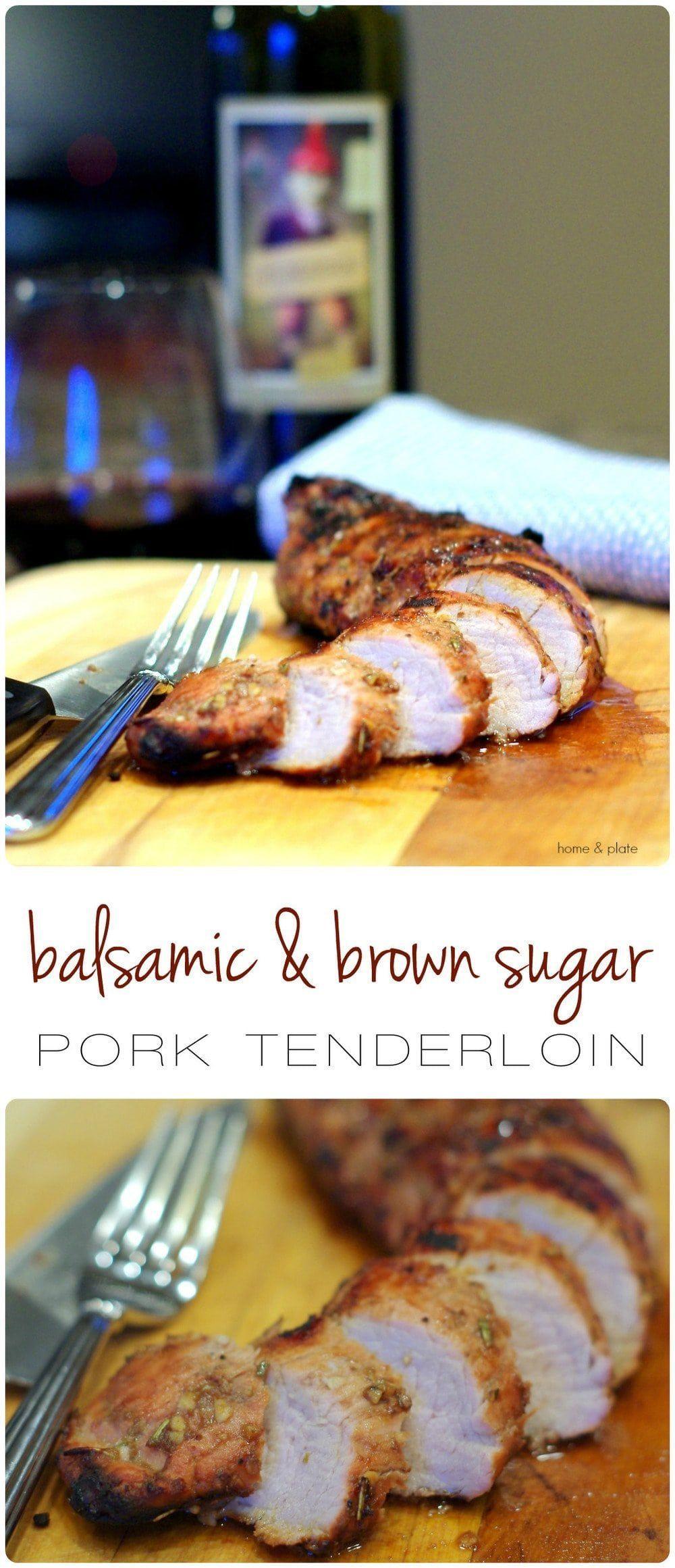 Brown Sugar Pork Tenderloin Recipe - Home & Plate #porktenderloinrecipes