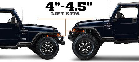 Jeep Tj Lift Kits 4 4 5 Inch 1997 2006 Wrangler Jeep Yj