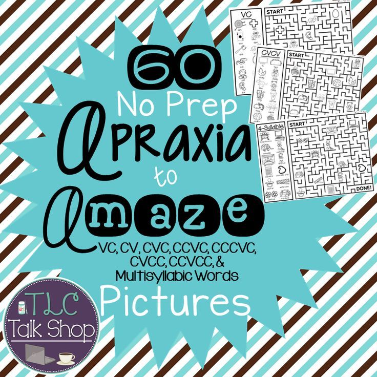 Apraxia to A-MAZE Pictures - cv words