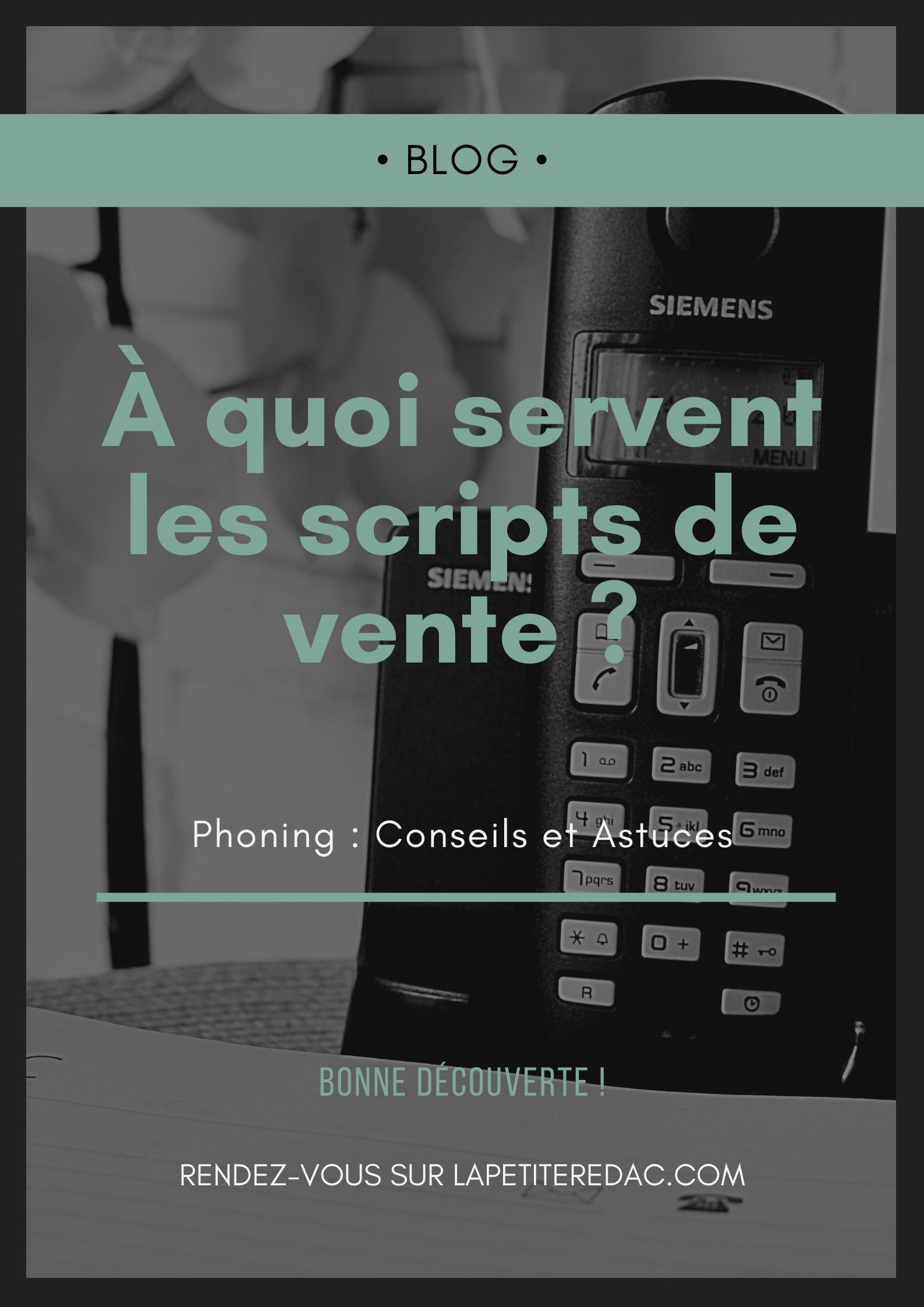 Astuce Phoning Comment Faire Un Script De Vente Phrase D Accroche Estime De Soi Sms Marketing