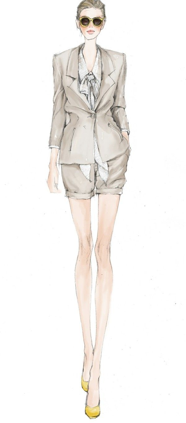 Short suit sketch fashion illustrations pinterest fashion