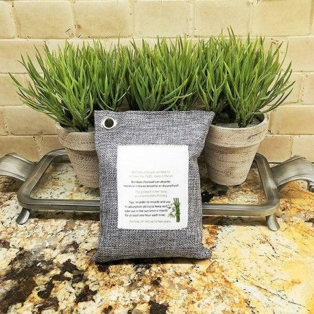Natural Charcoal Bamboo Air Purifying Bags / Pack of 5