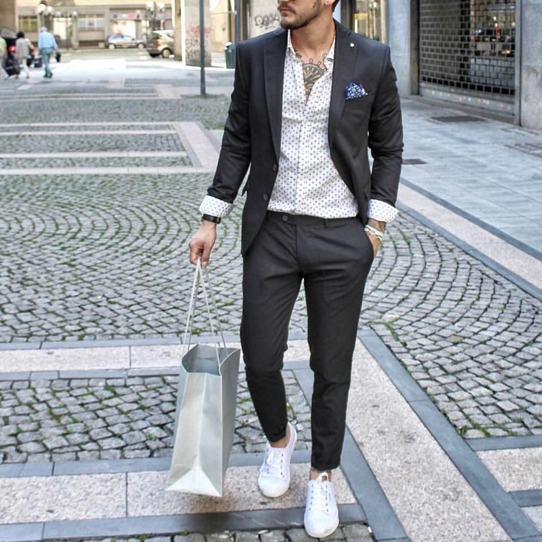 Mens pants fashion, Suits and sneakers