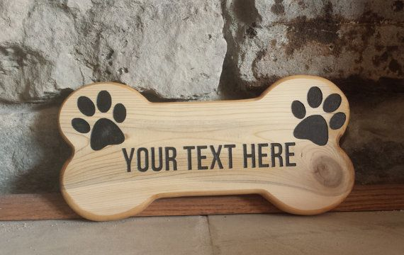 Custom Dog Bone Sign Dog Signs Custom Wood Signs Personalized