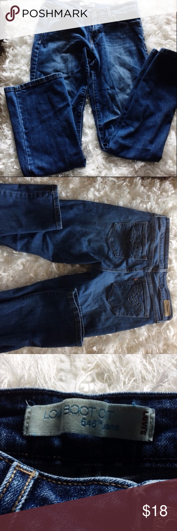 """Levi Bootcut Blue Jeans Women's 8 Medium Low bootcut. 646 jeans. Used but good condition. 99% cotton. 1% elastane. Made in Sri Lanka. Red tag on back pockets. Brown label in back does have some fading. Laid flat the aist is 15.5"""", length is 38"""" inseam is 30"""". All sizes approximate. Weighs 1 lbs. 4 oz. levis Pants"""