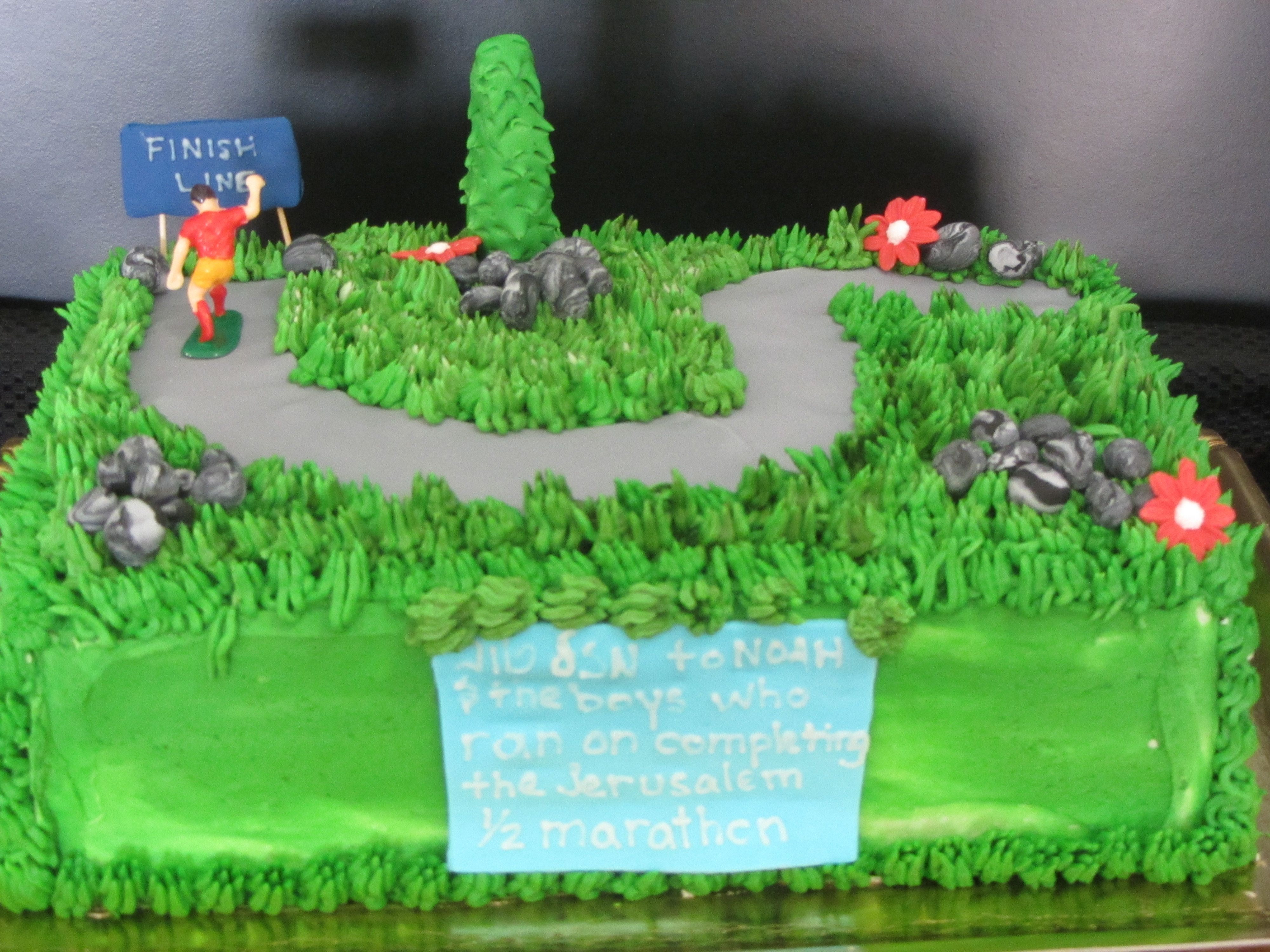 Cool Marathon Runners Celebrate With Images Gift Cake Delivery Personalised Birthday Cards Arneslily Jamesorg