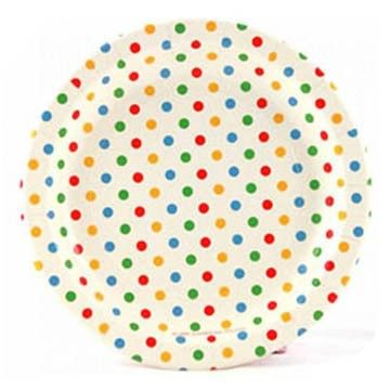 Multi-coloured polkadot paper plates The Party Table  sc 1 st  Pinterest & Rainbow Polka Dot Party Paper Plates from Lark | Sams bday ...
