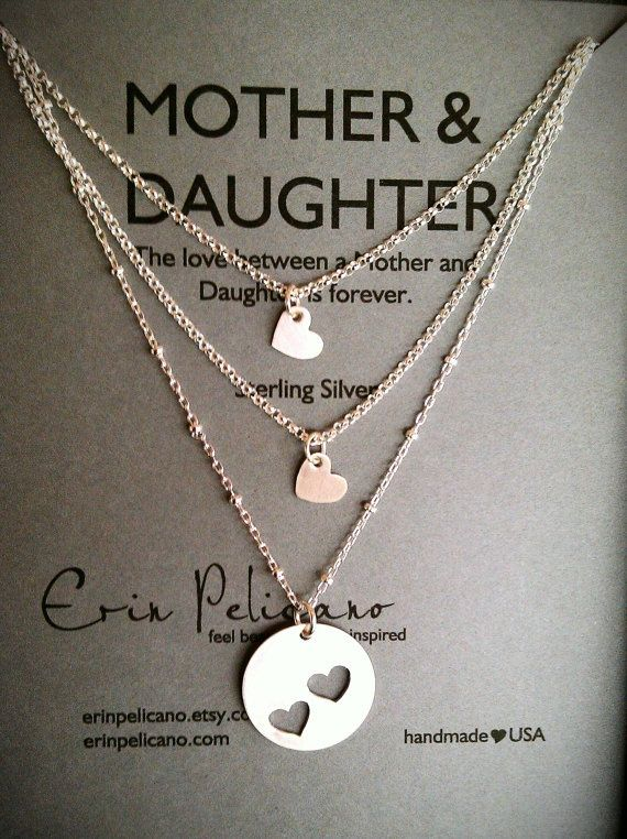 Mom Daughter Necklace Mother Daughter Jewelry Set Mother Of The