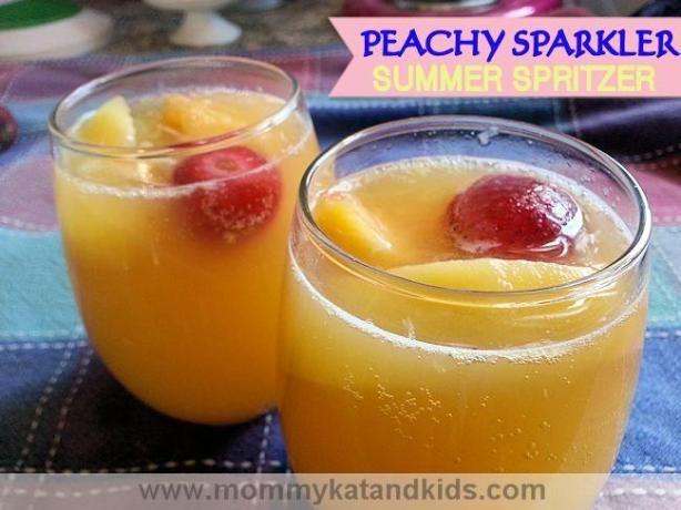 Minue Maid Peachy Sparkler Recipe