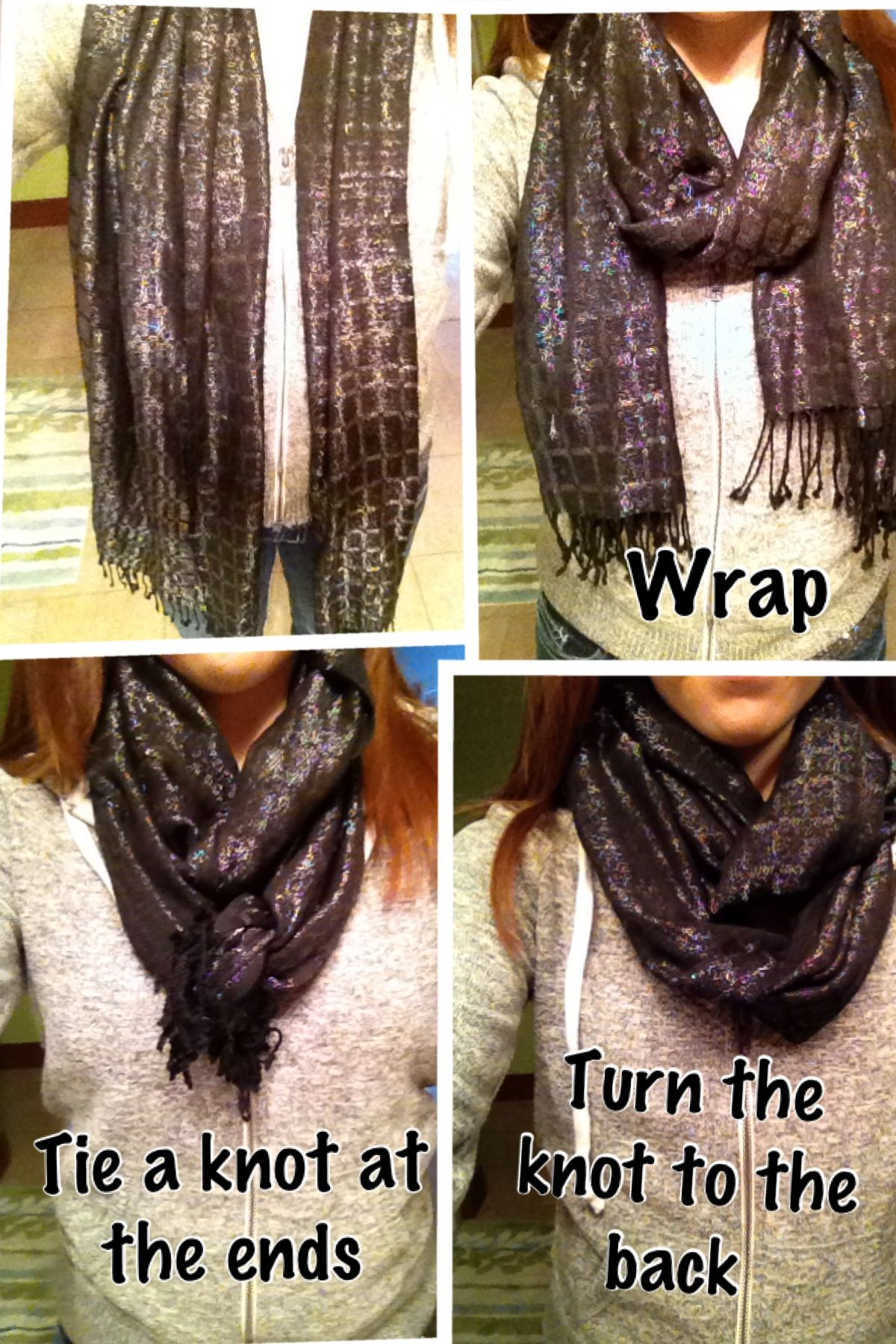 How to infinity wear scarf pinterest