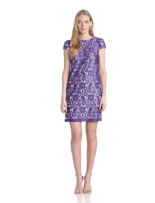 Amazon.com: Ivy & Blu Women's Short Sleeve Lace T-Shirt Dress: Clothing