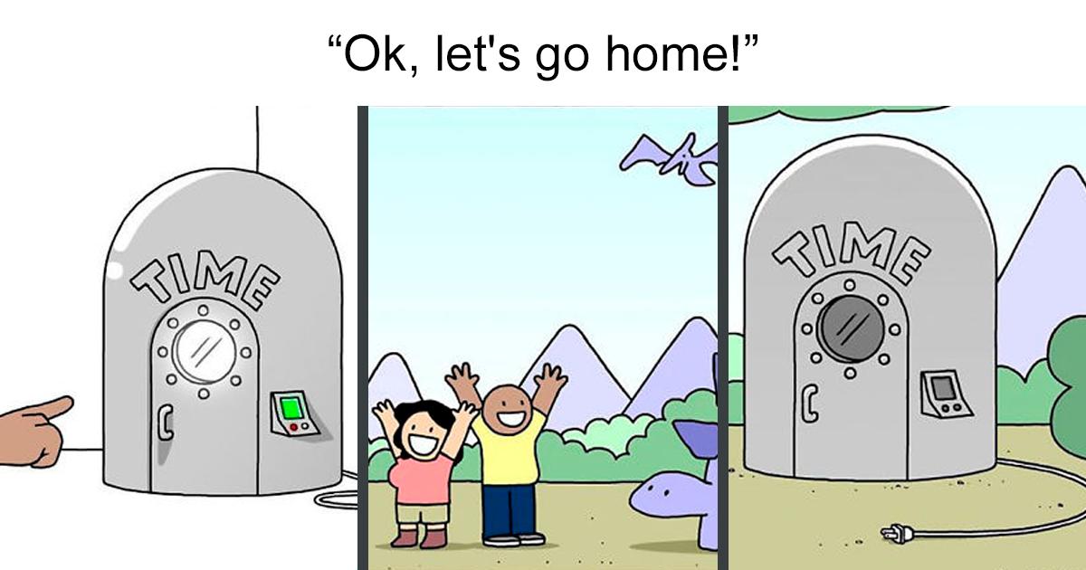 Artist Adds Dark Humor To His Comics That Look Innocent At First 30 Pics Dark Humor Dark Humor Comics Humor