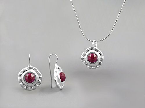 Red ruby gemstone jewelry for th anniversary color anniversary