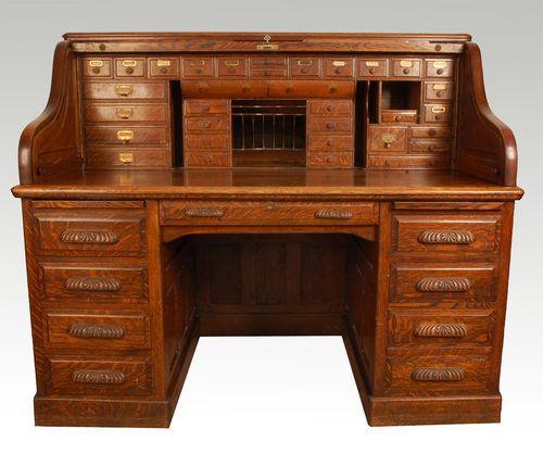 Want similar Oak Roll Top Desk for craft office - Want Similar Oak Roll Top Desk For Craft Office Storage Shelves