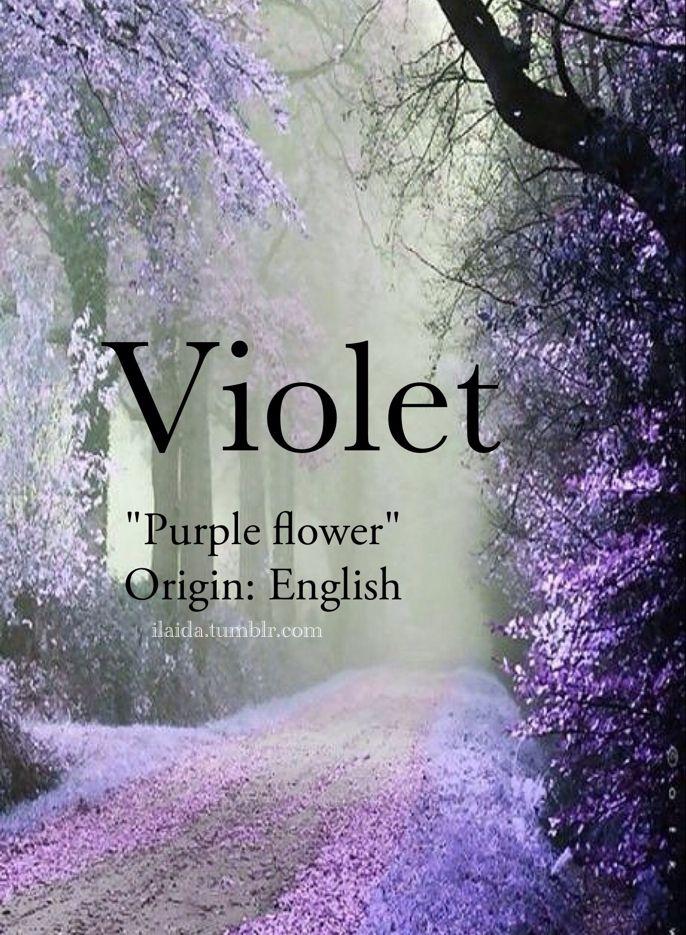 Baby girl name Violet. Meaning Purple flower. Origin