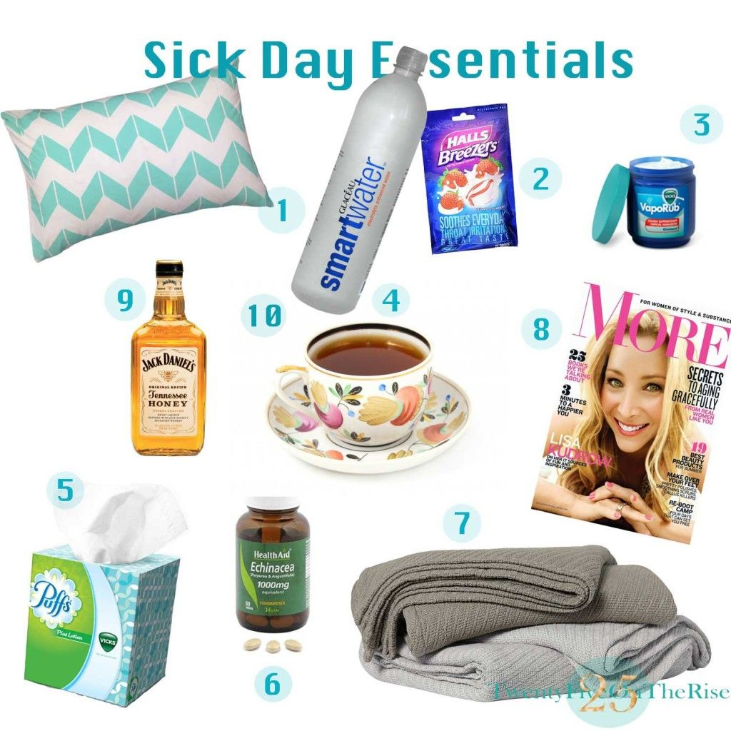 Sick Day Essentials | 10 essentials, Sick and Feelings