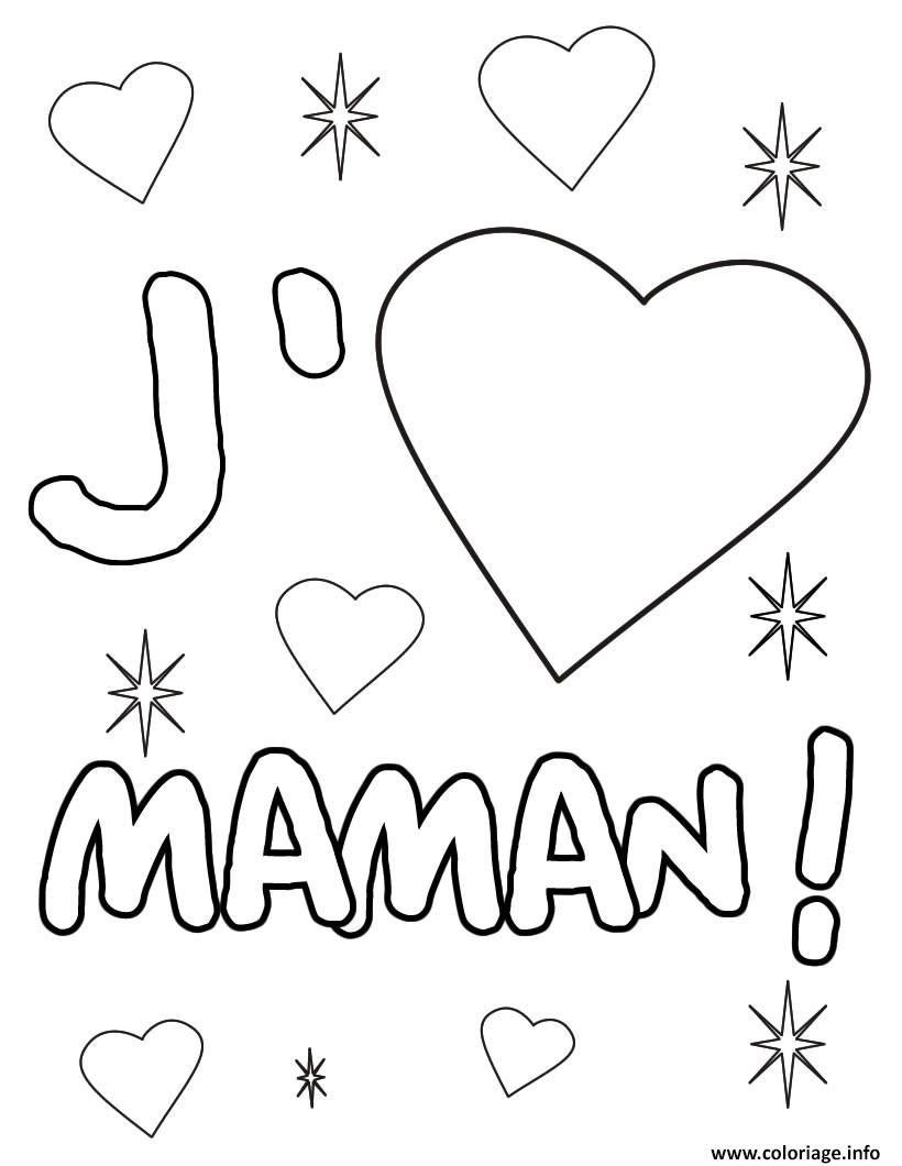 Coloriage Coeur Maman Dessin à Imprimer Bricolage Enfant
