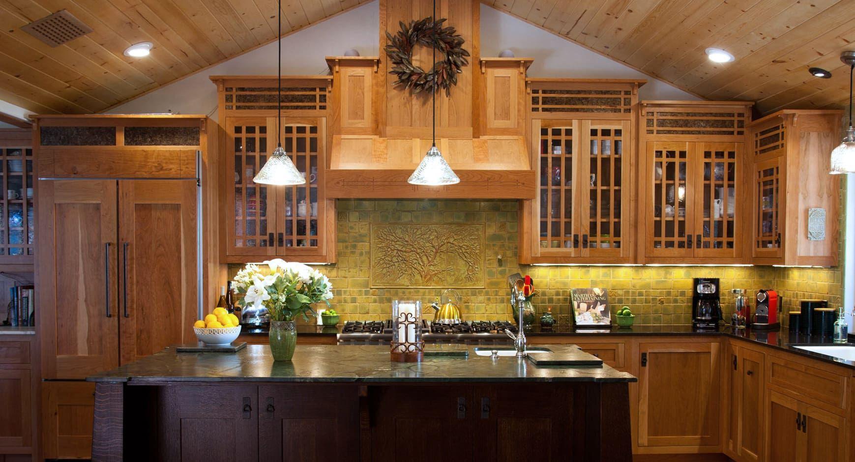 Hile Kitchen By Pasadena Craftsman Tile At Private Residence Pasadena Ca Craftsman Kitchen Kitchen Cabinet Styles Kitchen Craft Cabinets