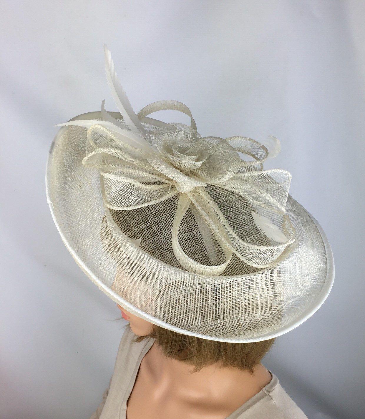 Fascinator NEW Cream Ivory Headband Hatinator Hat Wedding Races Formal Ladies