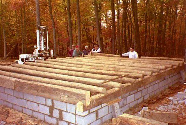 Floor Joists On Concrete Block Foundation Concrete Blocks Log Homes