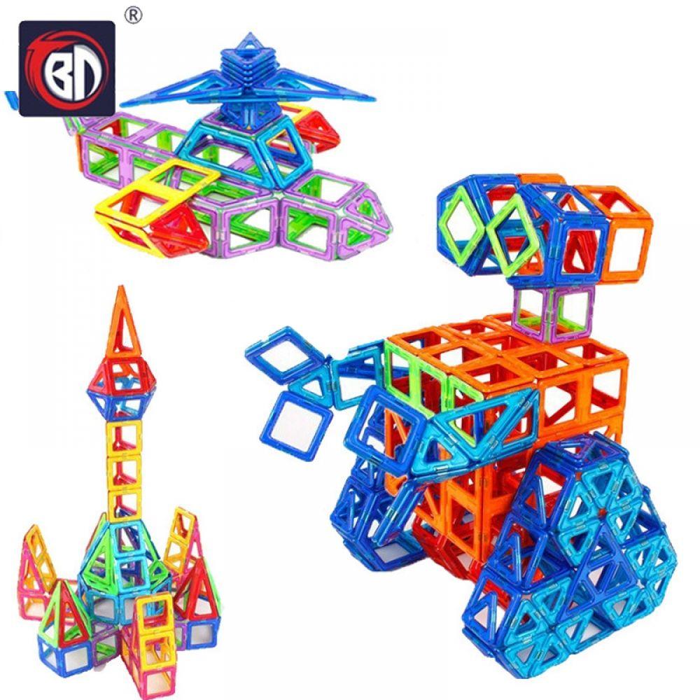 Educational Magnetic Building Blocks 3D Construction Tiles 110 Set Fun Toys Kids