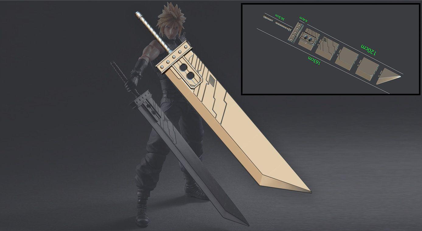 Buster Sword Cloud Final Fantasy Vii Remake 3d Print Model Etsy In 2021 Final Fantasy Vii Final Fantasy Final Fantasy Cloud Strife