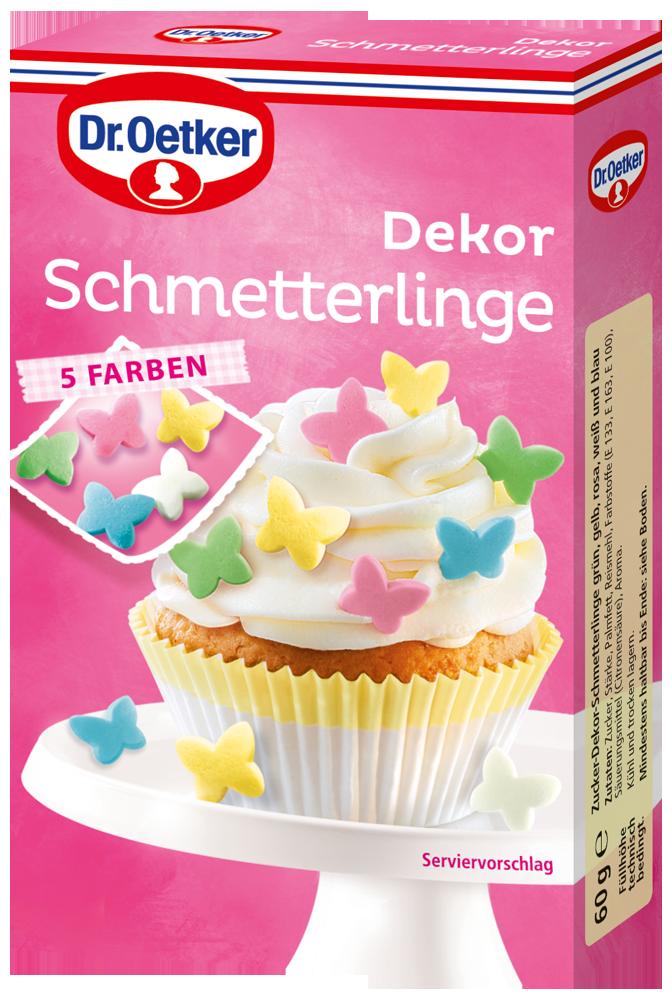 Mit Dr Oetker Dekor Schmetterlinge Kreativ Und Farbenfroh Verzieren Dekor Verzieren Dekorieren
