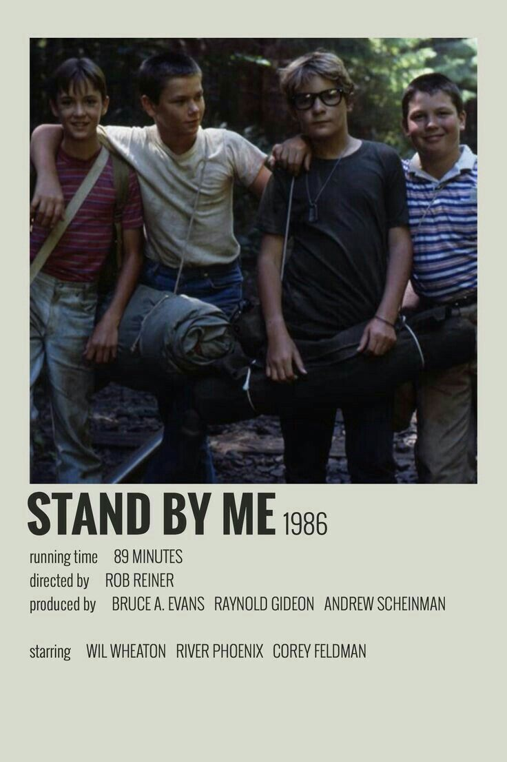 Stand By Me In 2020 Film Posters Minimalist Indie Movie Posters Movie Poster Wall