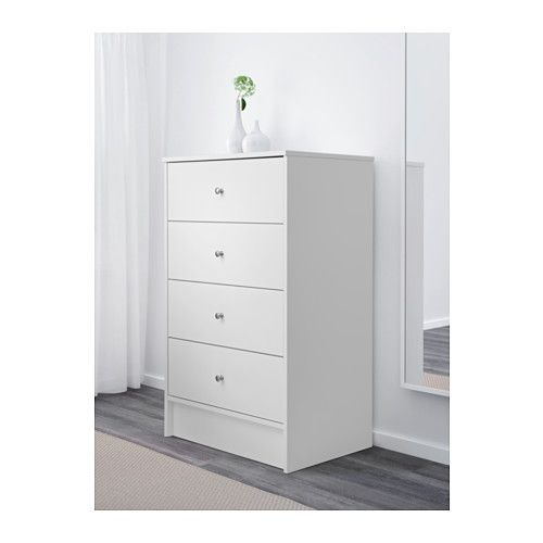 Dyfjord 4 Drawer Chest White Ikea Perk Of Being Bigger Than Tyssedal For More Storage
