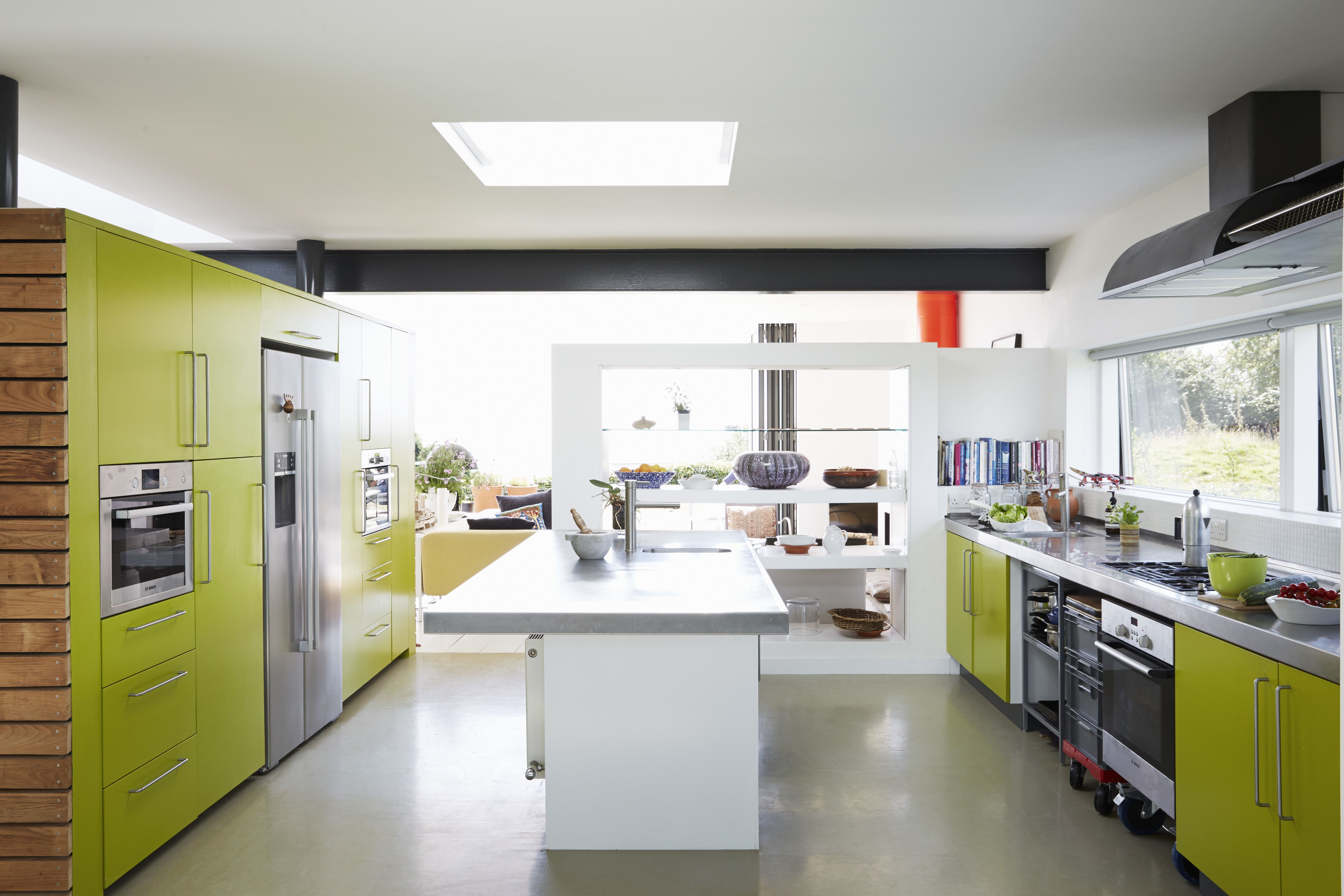 ... Equipped With Bosch Appliances And A 16 Foot Steel Countertop The
