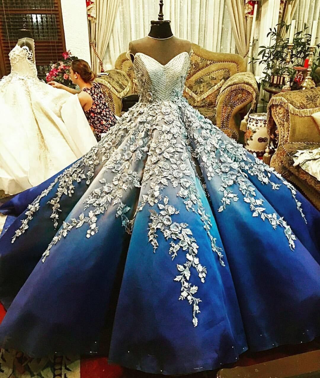 Something blue ???????? Would you say YES to this dress? #NigerianWedding #nigeriandressstyles