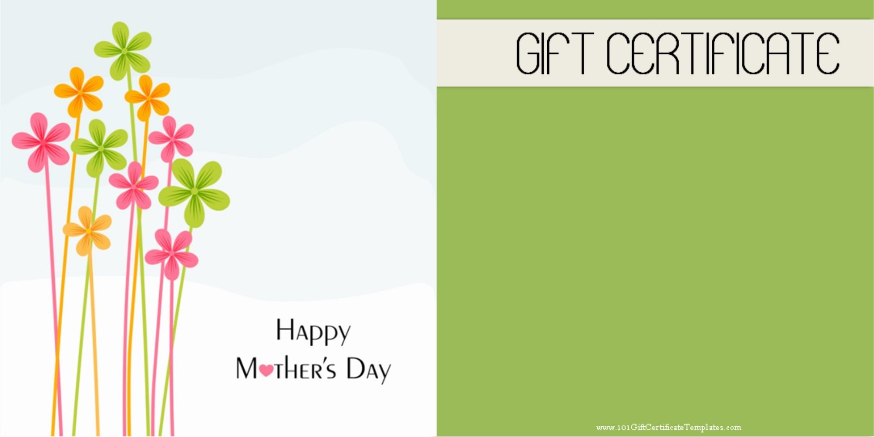 Mothers Day Gift Certificate Mothers Day Gift Certificate