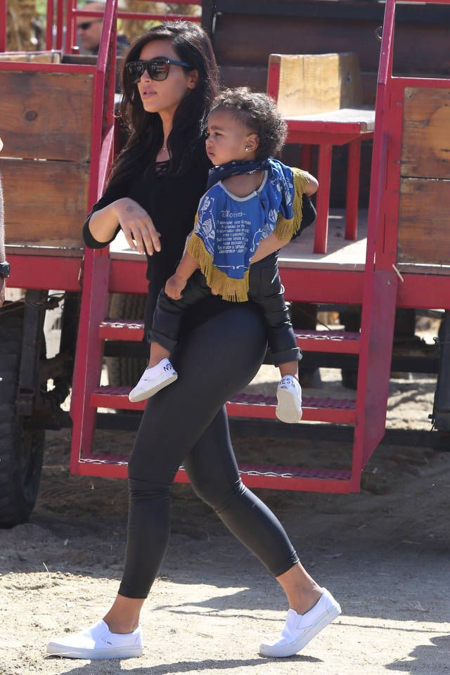 Kim Kardashian and Kanye West take North to the pumpkin patch with the rest of the Kardashian clan. See the weekend pictures, here: