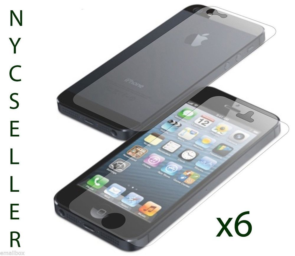 6 front 6 back 12 ultra clear hd screen protector film