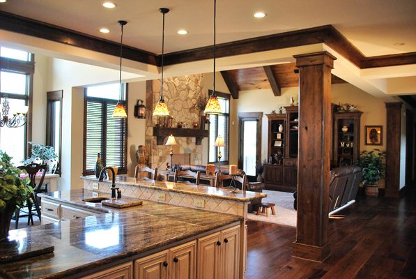 A Home In The Woods American Builders Quarterly Home House Wood Floor Kitchen