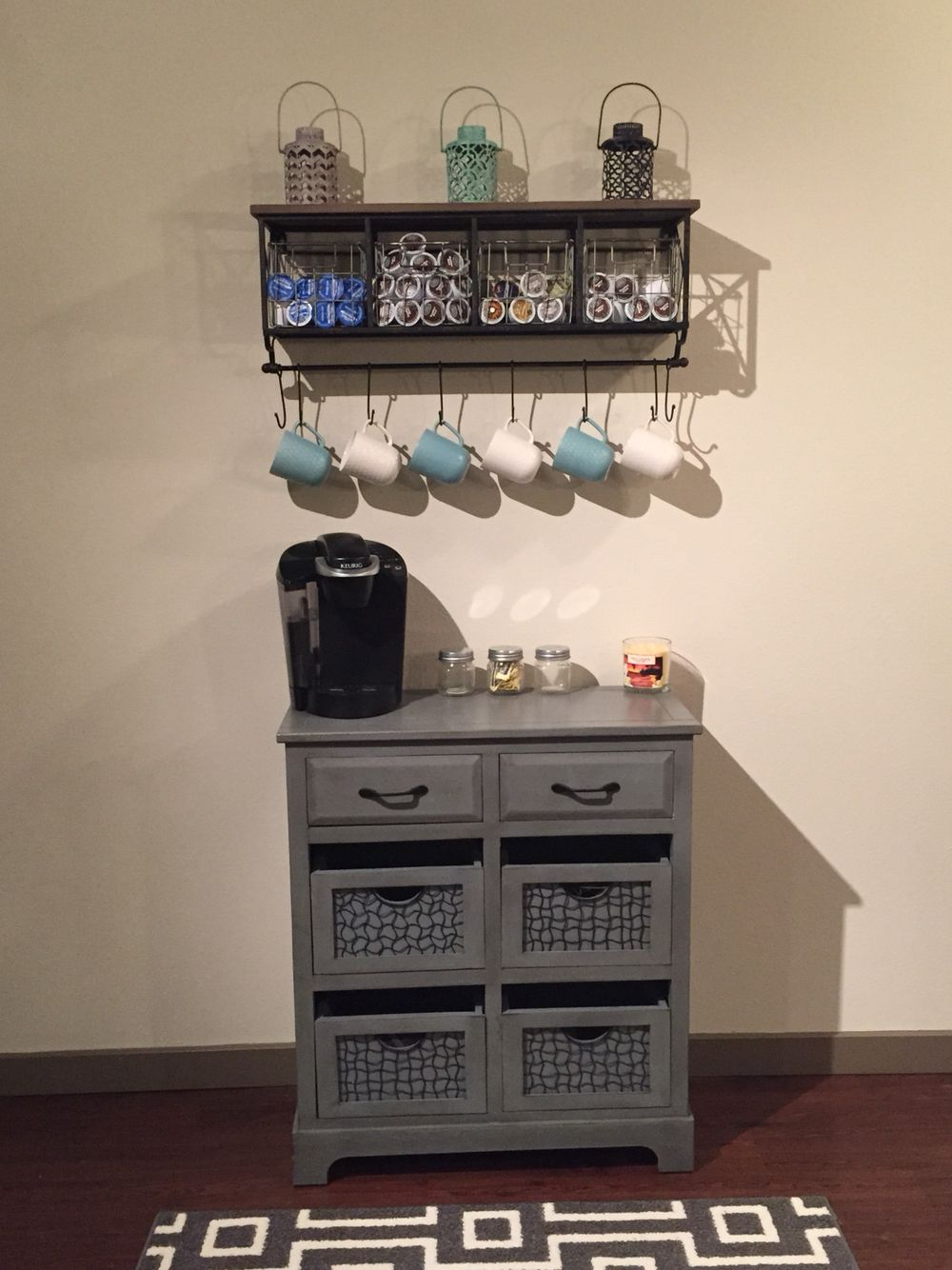 Home made coffee bar Table Homegood store Rack Hobby