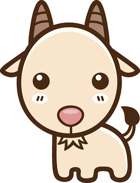 Cute Simple Kawaii Animal Cartoon Icon Goat Vinyl Decal Sticker Cartoon Animals Kawaii Animals Animated Animals