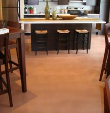 Blue Apartments Minneapolis Mn Adding Pigment To Level Right Weartop Creates A Beautiful Stand Alone Floor Small Space Living Apartment Apartment Kitchen