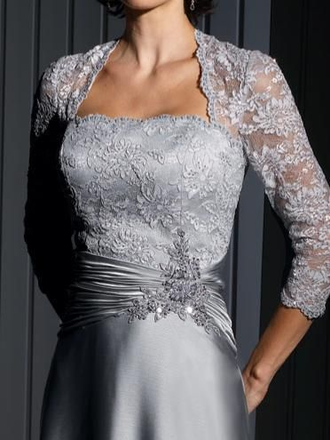 Cameron Blake Evening Dress with Lace Sleeves 111676 | anniversary ...
