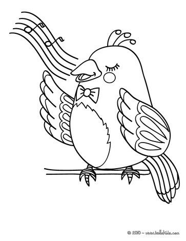 nightingale animal coloring pages. Nightingale coloring page  Nice bird sheet More original content on hellokids com
