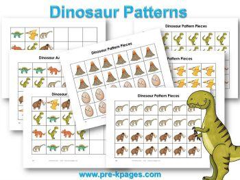 dinosaur literacy dinosaur pattern kindergarten and activities. Black Bedroom Furniture Sets. Home Design Ideas